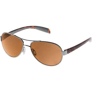 Native Eyewear Haskill Polarized Aviator Sunglasses in Chrome & Maple