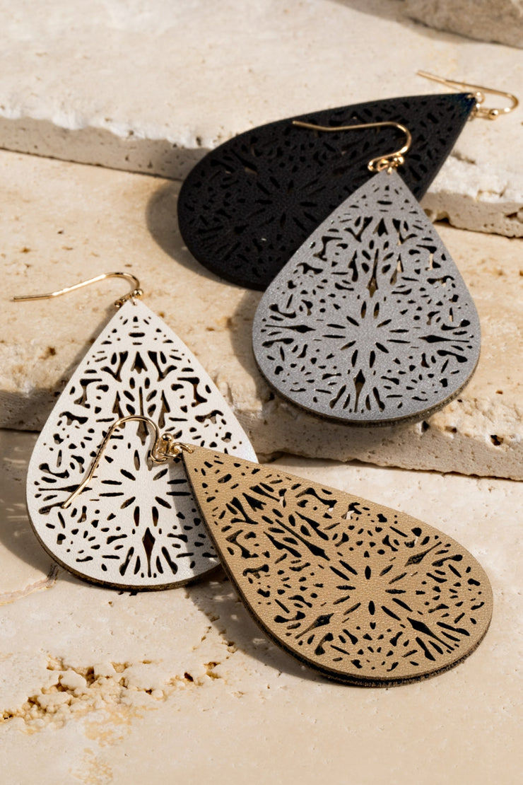 Leather Filigree Earrings