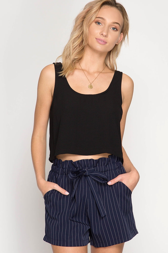 Paislee- navy, black, white