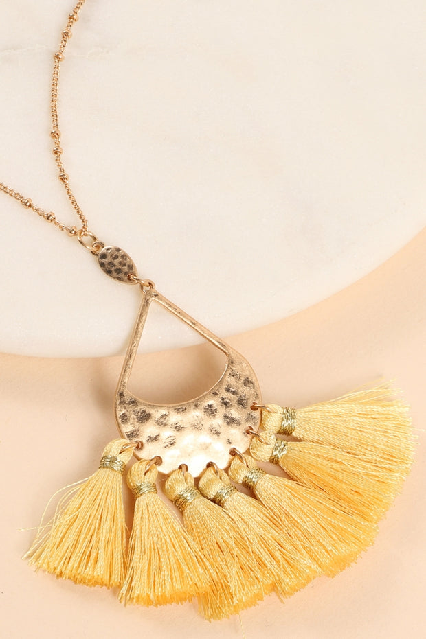 Spring Tassel Necklace