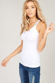 Strappy Back tank- multiple colors (M/L left)