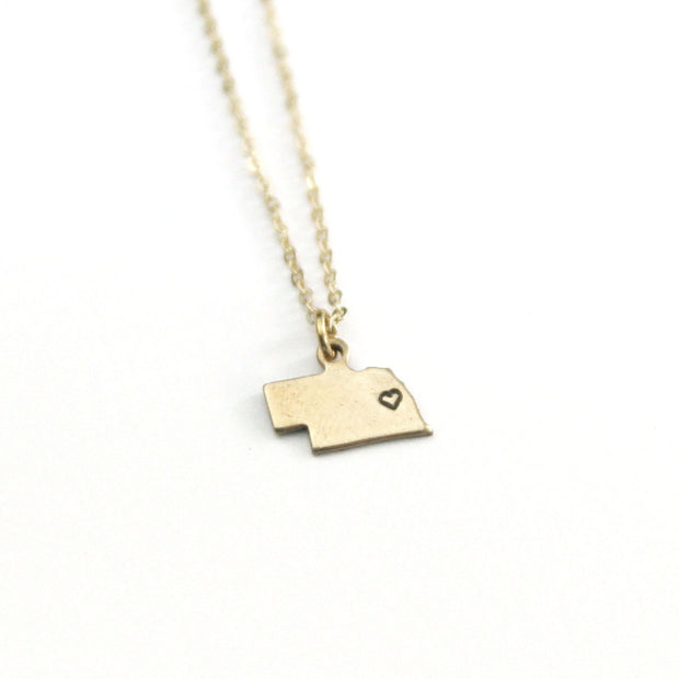 Nebraska Heart Necklace