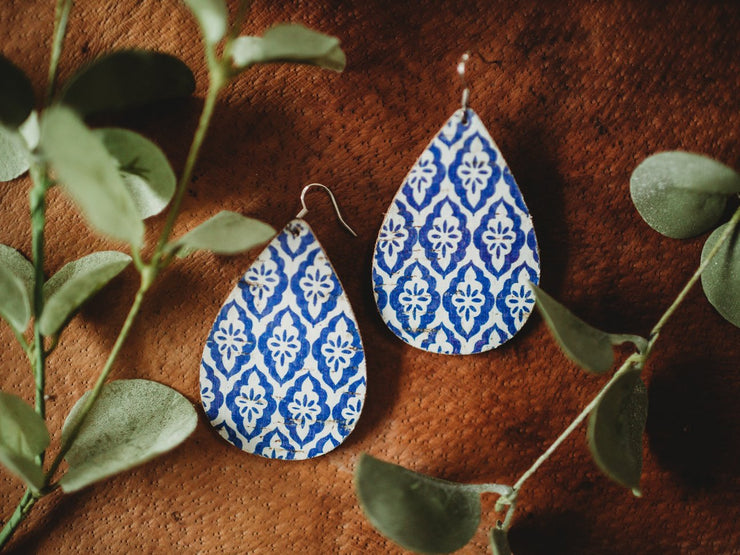 French Blue Earrings