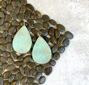 Distressed Leather Earrings