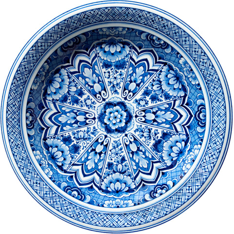 Delft Blue Plate carpet