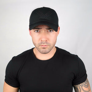 Black Hat, Black Embroidered Logo