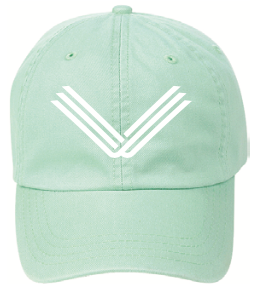 Seafoam Green Hat, White Embroidered Logo