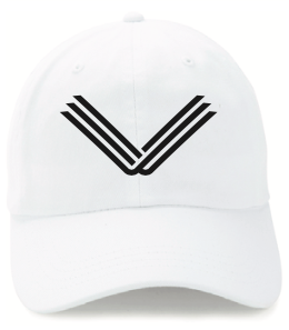 White Hat, Black Embroidered Logo