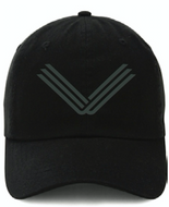 Black Hat, Gray Embroidered Logo