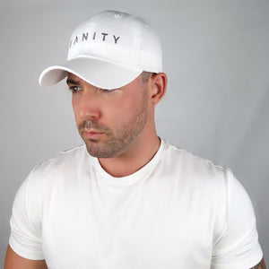 White Hat, Gray Embroidered Logo
