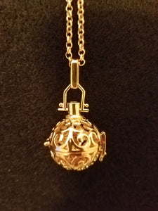 Aromatherapy Necklace (Gold Tone)