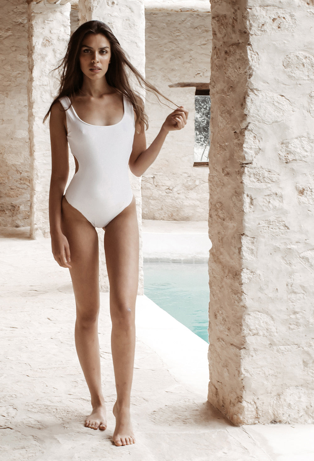 Maillot Swimsuit Apricoss, made in Morocco, available at Dar D'art Le Collectif
