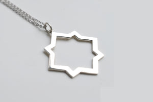 Collier sautoir en Argent Rhita Creations, made in Morocco, en vente chez Dar D'art Le Collectif