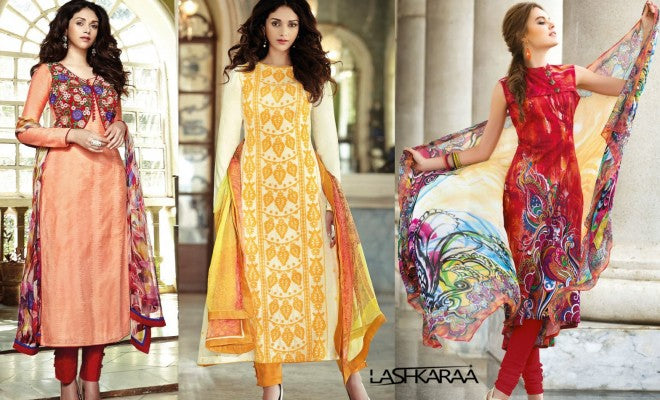 Top 10 Best Fashion Designs In Pakistani Salwar Kameez 2015 Lashkaraa