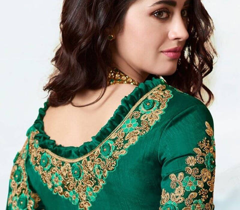 Round Neck Blouse with Embellishments