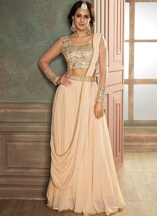 Blush Embroidered Lehenga