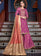 Light Purple Satin Suit with Jacquard Dupatta