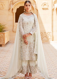 Light Dusty Mint Embroidered Palazzo Suit