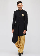 Black and Gold Indo Western Set