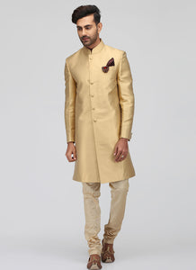 Golden Silk Sherwani