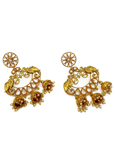 Suman Antique Polki Earrings