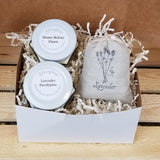 Personalized gift box, soy candle gift box