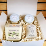 Personalized gift box, soy candle gift box, spa gift set