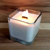 Afterglow hand poured soy candle with wood wick
