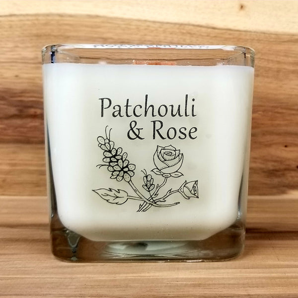 Wooden Wick Soy Candle - Patchouli & Rose