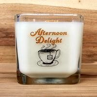 (2) Wood Wick Hand Poured Soy Candles