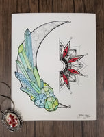 Crystallized Moon Giclee Art Print, 8x10