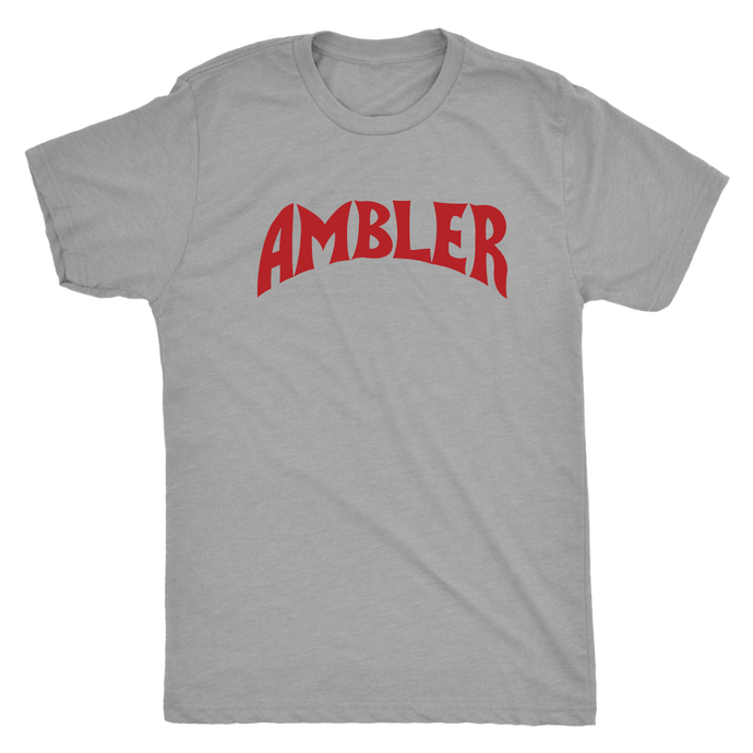 Ambler Superhero in Red Mens Triblend T-Shirt