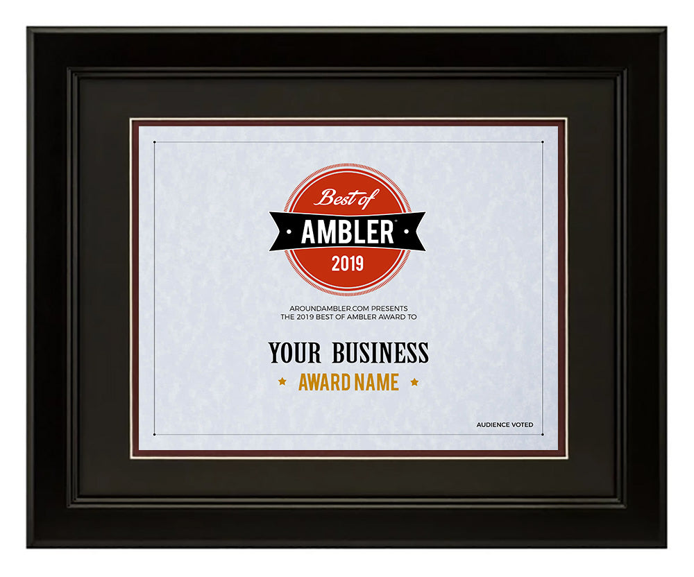 Best Of Ambler Framed Certificate