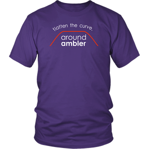 Flatten The Curve Around Ambler - Adult T-Shirt