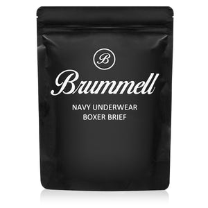 Brummell 3-Pack Navy Boxer Briefs