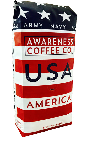 USA Flag Coffee Blend - Awareness Coffee Company - Charitable Coffee