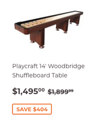 14' Playcraft Woodbridge Shuffleboard Table