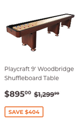 9' Playcraft Woodbridge Shuffleboard Table