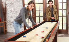 Shuffleboard Game with Playcraft Shuffleboard Pucks and Table