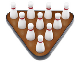 Playcraft Deluxe Pin Setter and Hardwood Bowling Pins