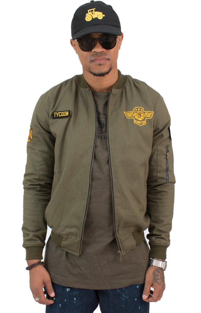 MILITARY GREEN FC FLIGHT JACKET