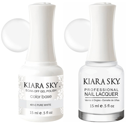 Kiara Sky Gel + Nail Polish - Pure White – 401