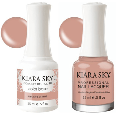 Kiara Sky Gel + Nail Polish - Bare With Me - 403