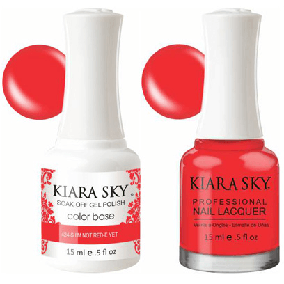 Kiara Sky Gel + Nail Polish - I'm Not Red-E Yet! - 424