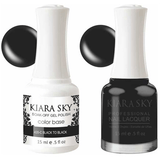 Kiara Sky Gel + Nail Polish - Black to Black - 435