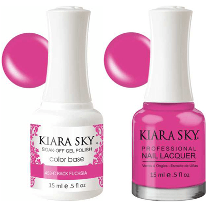 Kiara Sky Gel + Nail Polish - Back To Fushia - 453