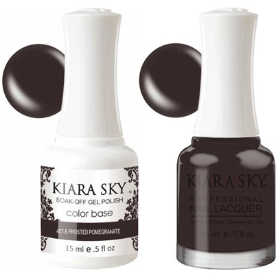 Kiara Sky Gel + Nail Polish - Frosted Pomegranate - 457