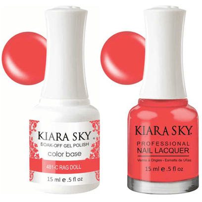 Kiara Sky Gel + Nail Polish - Rag Doll – 481