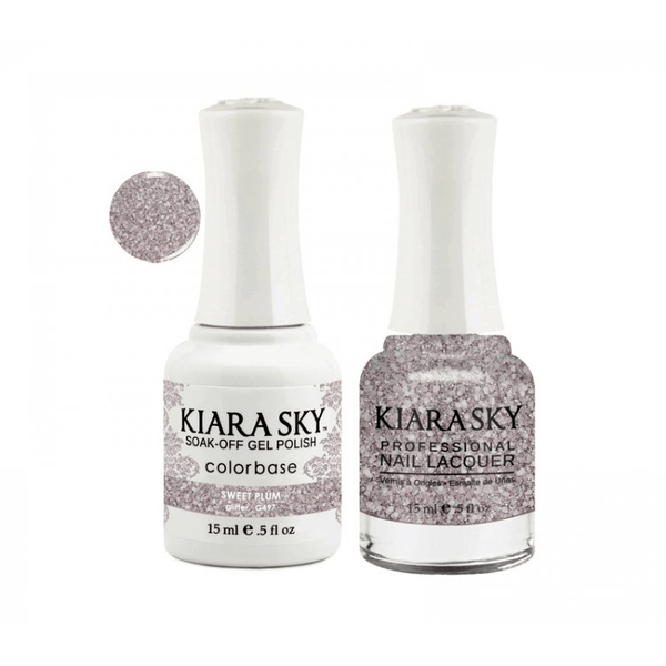 Kiara Sky Gel + Nail Polish - SWEET PLUM – 497
