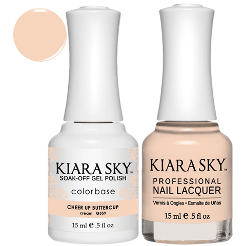 Kiara Sky Gel + Nail Polish - CHEER UP BUTTERCUP #559